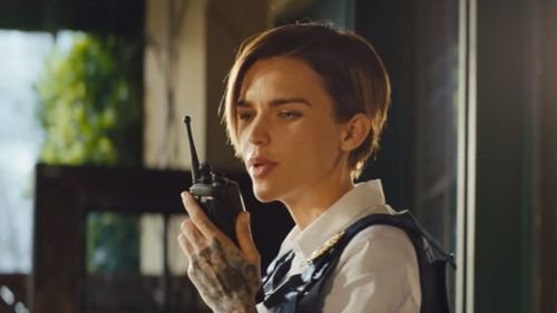 Ruby Rose has a cameo. (Dundee Movie)