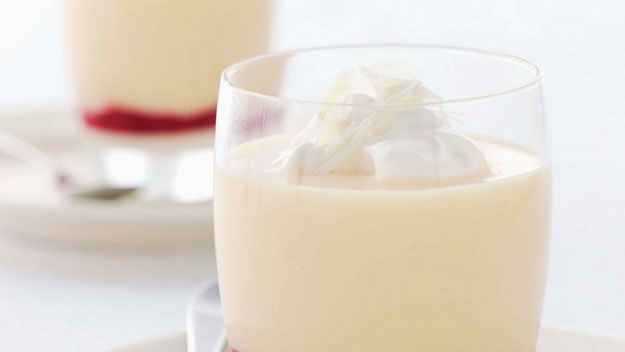 White chocolate, custard and raspberry desserts