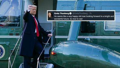 Greta Thunberg farewells Donald Trump