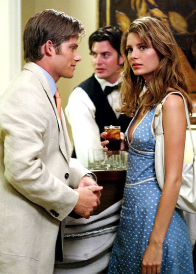 Mischa Barton and on-screen boyfriend Luke Ward (played by Chris McCormack) make a strong case for the teenage couple dressing in season one. Barton is pictured in a dress from Marc Jacobs