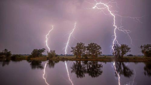 Two women struck by lightning taking a selfie