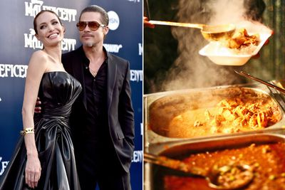 "The way to Brad's heart is obvs through his stomach!<br/><br/>In April 2013, Angelina surprised Brad by flying his favourite curry from the UK, where he filmed <i>World War Z</i>, to LA.<br/><br/>The ""curry from Surrey"" was cooked and flash-freezed, then loaded onto their private jet. A year earlier, at that same curry house, Brange spent $5000 on one boozy meal for close friends and their bodyguards.<br/><br/>Images: Getty"