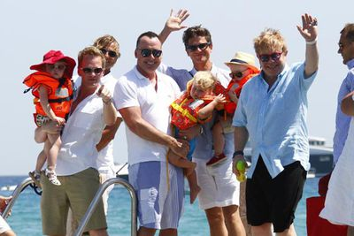 Neil Patrick Harris and Sir Elton John took their super-cute broods on a double-dad-date holiday to Saint Tropez.