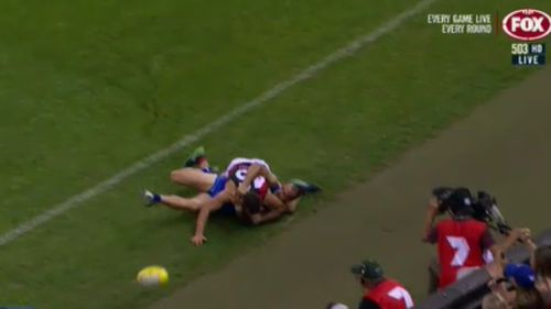 McKenna will front the AFL tribunal tonight over the incident. (Fox Sports)