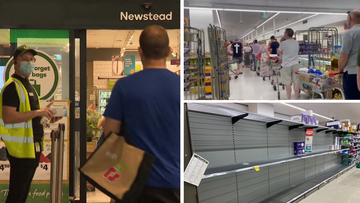 Panic buying and supermarket items limits have returned to south east Queensland in the lead-up to today's lockdown.