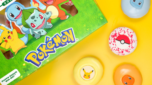 Pokemon themed doughnuts are coming to Krispy Kreme stores this week.