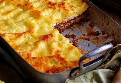 Beef and mushroom lasagne