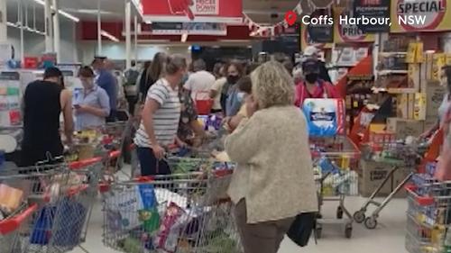 Coffs Harbour panic-buying