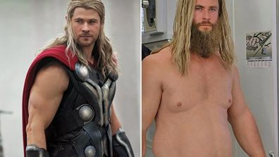 Chris Hemsworth wore a fat suit in Avengers: Endgame.