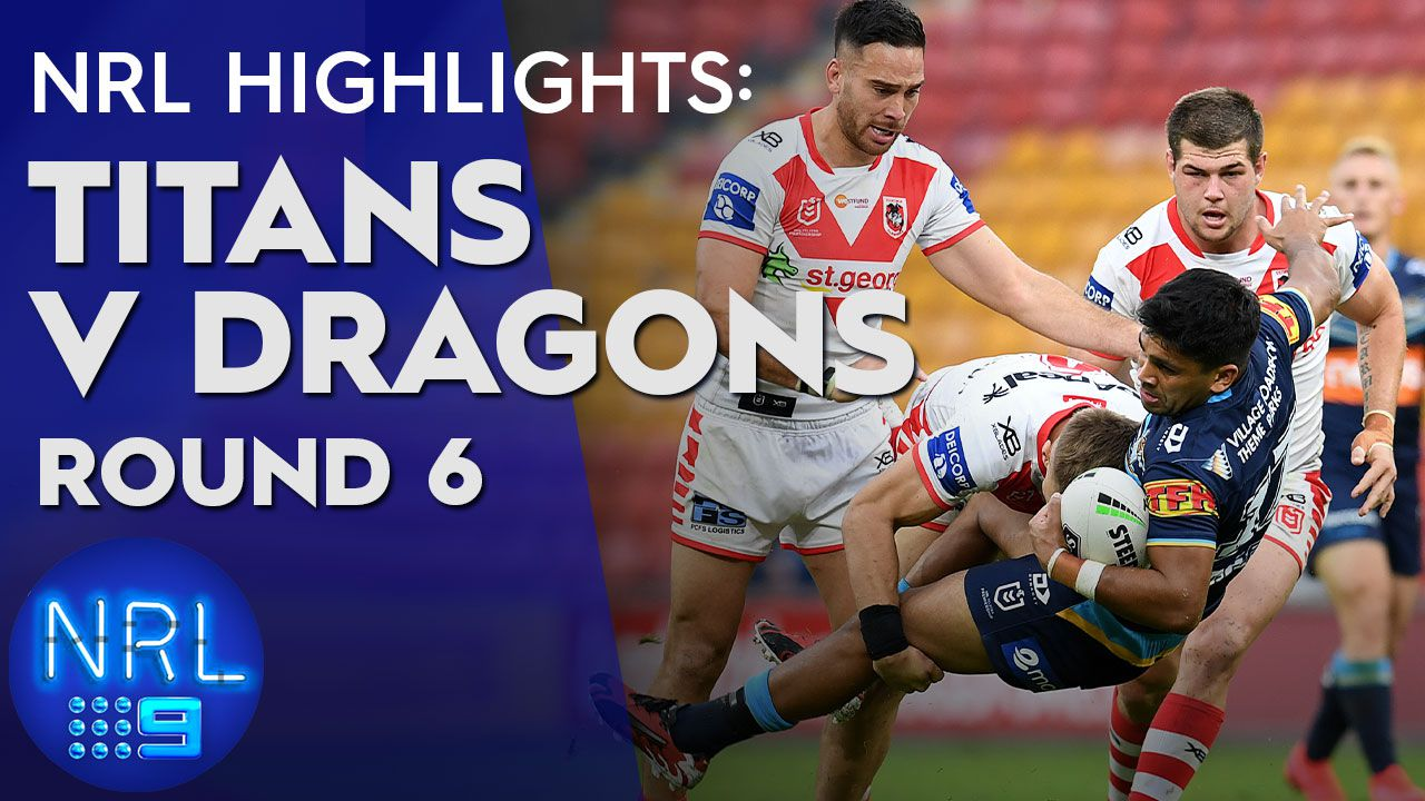 St George-Illawarra Dragons hold out Titans 20-8 in back-to-back wins