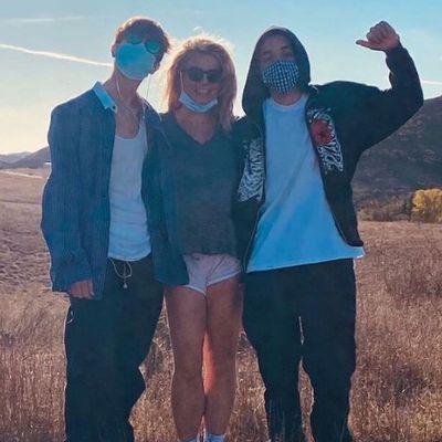 Britney Spears, Sean Preston Federline and Jayden James Federline