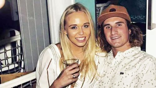 Baxter Woodger, and his girlfriend Tahlee De Clouett. (Photo: Facebook)