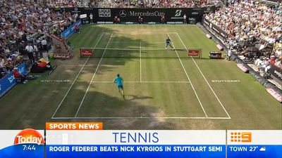 Federer gets 98th title with Stuttgart win