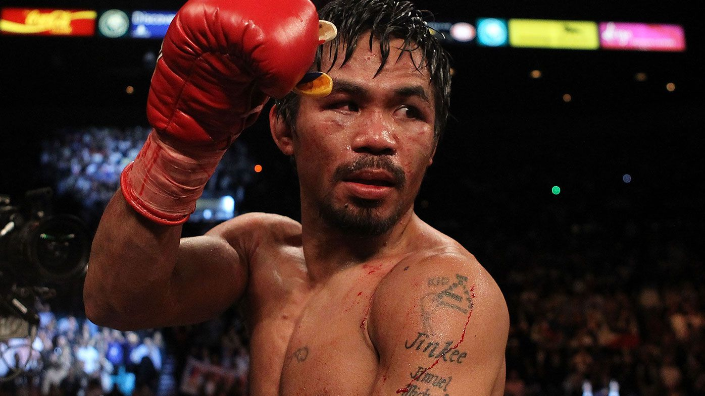 Boxing legend Manny Pacquiao officially hangs up his gloves