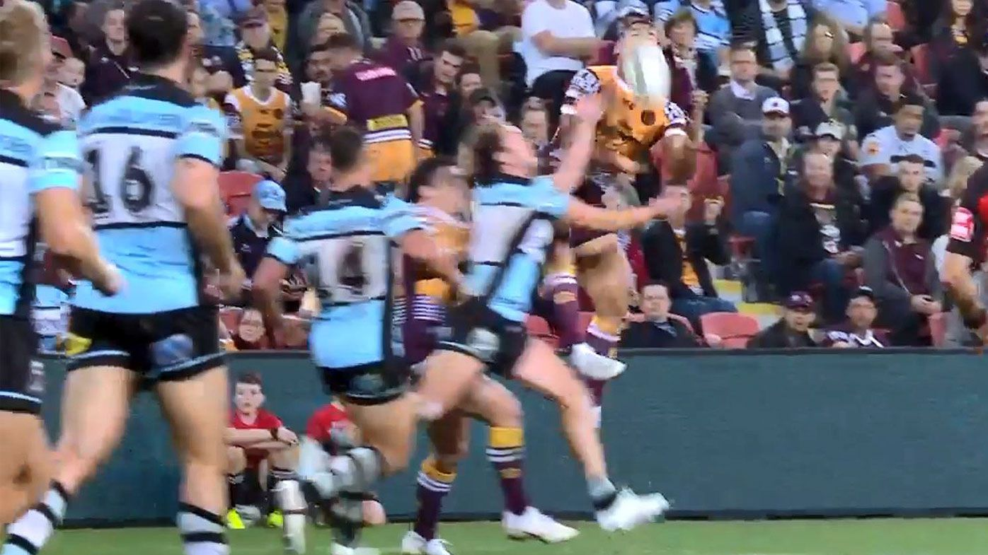'That's BS': Paul Vautin goes off on Matt Moylan penalty after mid-air collision with Jermaine Isaako