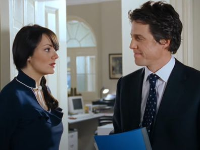 Scene from Love Actually featuring Hugh Grant