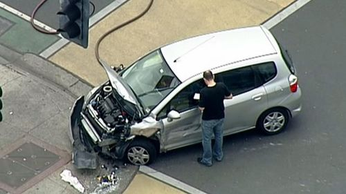 The second car involved in the accident. (9NEWS)