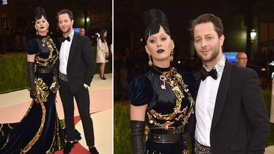 Singer Katy Perry and American writer and editor Derek Blasberg. (AFP)