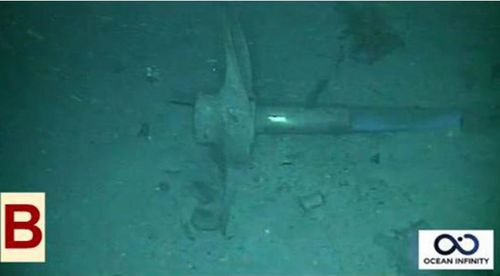 It was possible to make out a propeller and torpedo launching tubes from the underwater video.