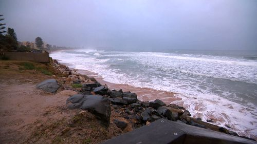 Heavy surf smashed Collaroy beach north of Sydney and other parts of the NSW coastline.