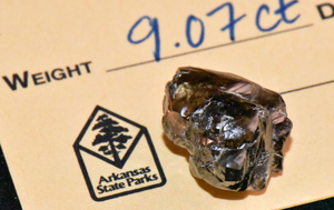 'It looked kind of interesting': Man finds huge diamond at a park