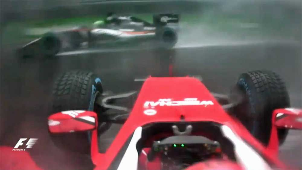 Formula One: Chaotic Brazilian GP halted after Raikkonen crash