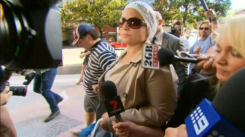 Amirah Droudis arrives at court today. (9NEWS)