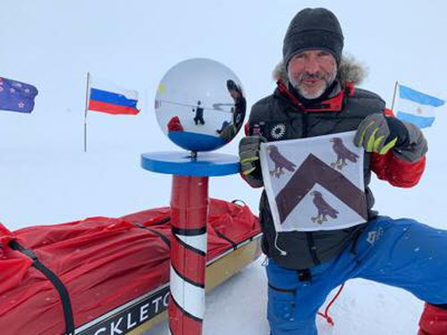 Louis Rudd is set to become the second person to traverse Antarctica completely unassisted.
