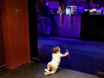 Toddler strip club doors