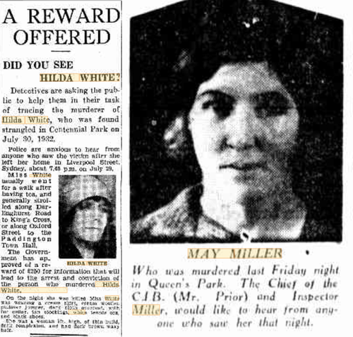 White's murder was the first in a spate of killings in 1932.