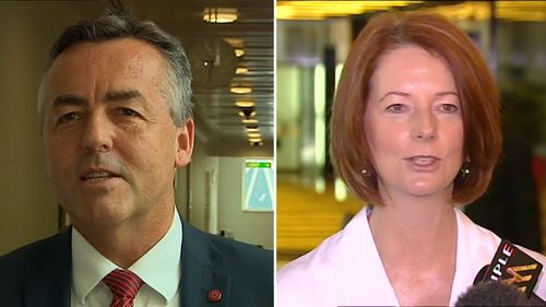 Darren Chester and Julia Gillard both used football analogies to hose down leadership speculation.