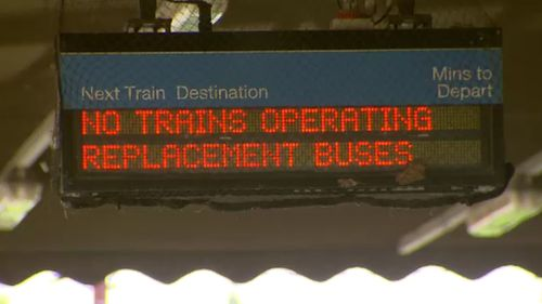Buses will replace trains on a number of Melbourne's railway lines. (9NEWS)
