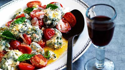 "Recipe: <a href=""https://kitchen.nine.com.au/2016/05/16/12/16/malfatti-with-tomato-lemon-and-basil"" target=""_top"">Malfatti with tomato, lemon and basil</a>"