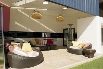 """The revamped outdoor living area.<br/><br/><b><a href=""""http://www.bigbrother.com.au"""" target=""""_blank"""">Visit the <i>Big Brother</i> official website</a></b>"""