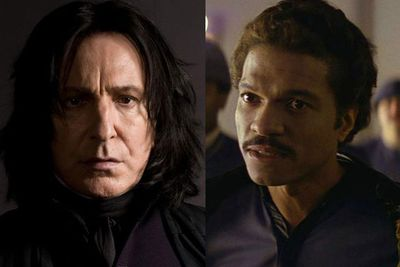 When it seems like he's helping he's really selling you out to the Empire, and when it looks like he'll turn you into a frog it turns out he's been taking care of you all your life because he was in love with your mother. (Professor Snape/Lando Calrissian)