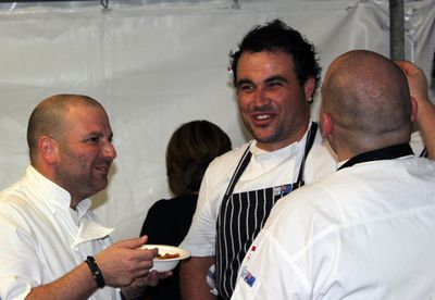 George Calombaris and Miguel Maestre</br>