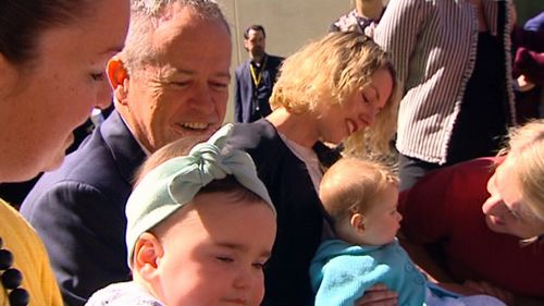 Labor Leader Bill Shorten said his party will boost super for pregnant women and mothers.