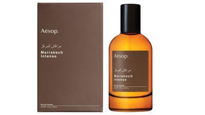 """<a href=""""http://www.aesop.com/au/fragrance/marrakech-intense-eau-de-toilette.html"""" target=""""_blank"""">Marrakech Intense Eau de Toilette, $79, Aesop</a>"""