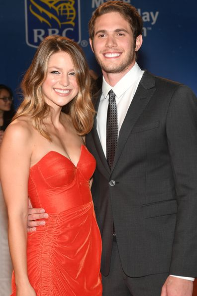 Melissa Benoist and her then-husband actor Blake Jenner