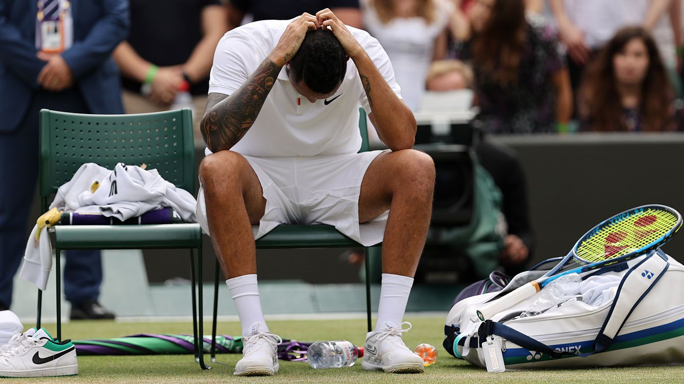 Nick Kyrgios discusses injury, laments missed opportunity after Wimbledon retirement