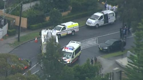 Emergency services at the Botany unit. (9NEWS)