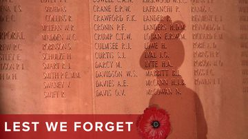 Remembrance Day commemorating fallen Australian soldiers