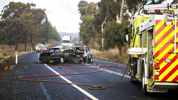 Scene of a fatal car crash in Australia, in 2019.