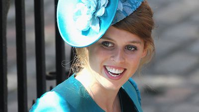 Princess Beatrice attends Mike Tindall and Zara Phillips' wedding, July 2011
