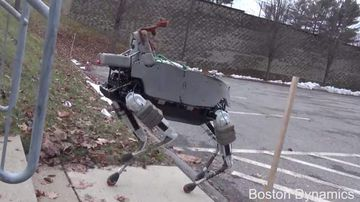 "<p>Google's robotics division has unveiled a new mechanical dog affectionately nicknamed 'Spot'. </p> <p> Long before they were acquired by the internet giant, Boston Dynamics was turning tech-heads with their incredible all-terrain quadrupedal bots. </p> <p> The company unveiled the advanced BigDog in March, 2013 which can carry heavy objects over mountains and through streams and has arms able pick up all manner of objects. </p> <p> Now Boston Dynamics has created a more advanced little brother for BigDog. </p> <p> With Spot there are all the same features BigDog but on a robot 34kg lighter. </p> <p> Spot is able to run up and turn around on steep gradients without losing its balance and it can climb stairs with ease thanks to it ""sensor head"". </p> <p> And as master of balance, Spot can take a hard kicking in its electronic guts and still stay standing. </p> <p> And although spot has no feelings, you can't help but feel sorry for the bot when it's kicked. </p> <p> The smaller robot dog can operate inside and out and its creators hope it could be used in the near future in search-and-rescue operations and assisting in disaster zones.  </p> <p> Spot is just the latest addition to the expanding and exciting universe of robotics. </p> <p> Take a look through for more mechanical marvels. </p> <p> </p>"
