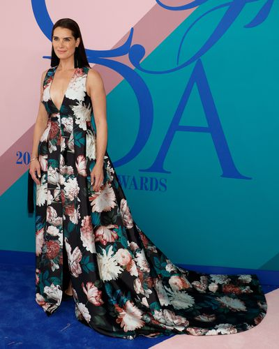 All grown up Brooke Shields, a mother of two, attends the 2017 CFDA Fashion Awards, June 5, 2017 in New York.