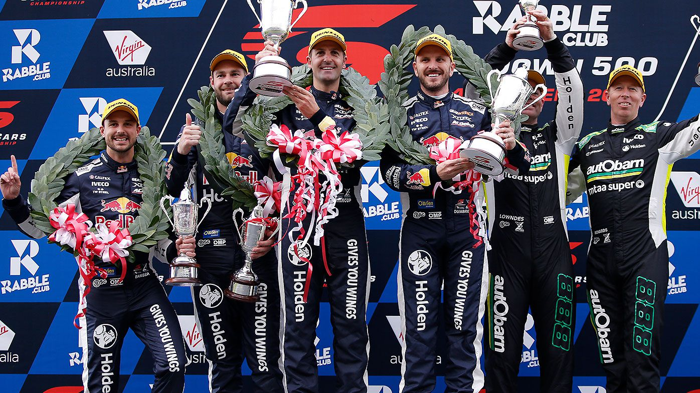 Red Bull Holden creates history at Sandown 500 wiping the podium