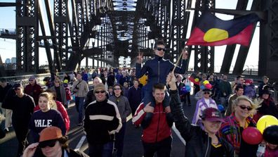 Up to 250,000 people walked the Sydney Harbour Bridge in 2000 to signify a desire to seek reconciliation with indigenous Australians.