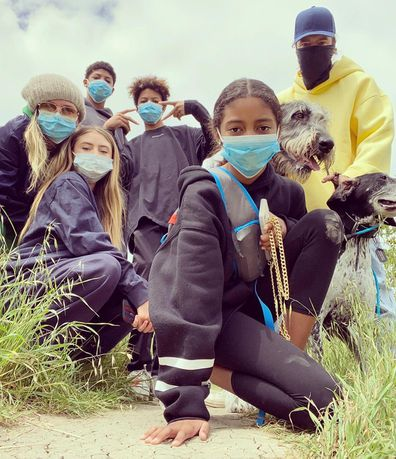 Heidi Klum, children, Instagram photo, coronavirus masks