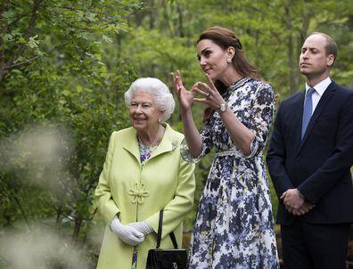 Prince William Queen Elizabeth Kate Middleton Chelsea Flower Show
